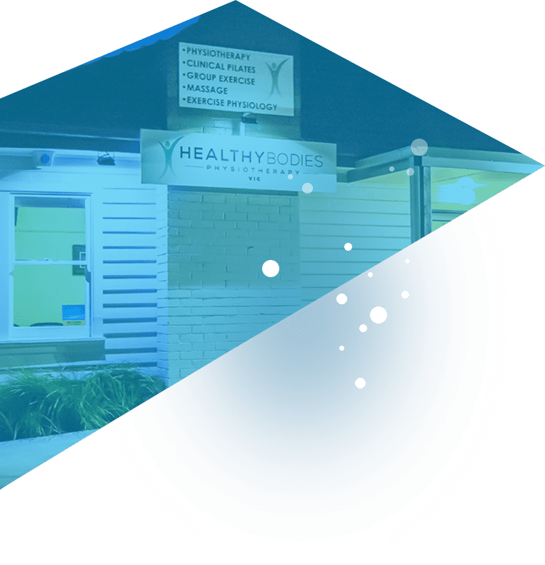 Partially greyed out image of Healthy Bodies Physiotherapy's office in Cheltenham, Victoria