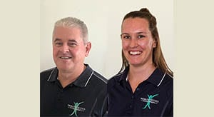 New massage therapists – Peter Mitchell and Alita White