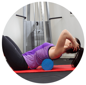 Woman shown exercising her back and abdominals in healthy bodies physiotherapy's centre